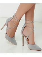 Stiletto Ayakkabı --gri